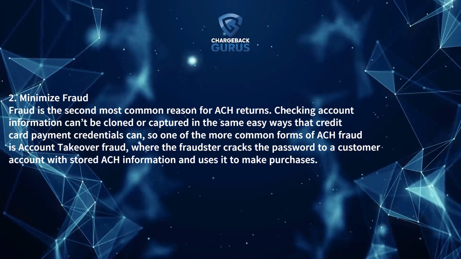 ACH chargebacks and account takeover
