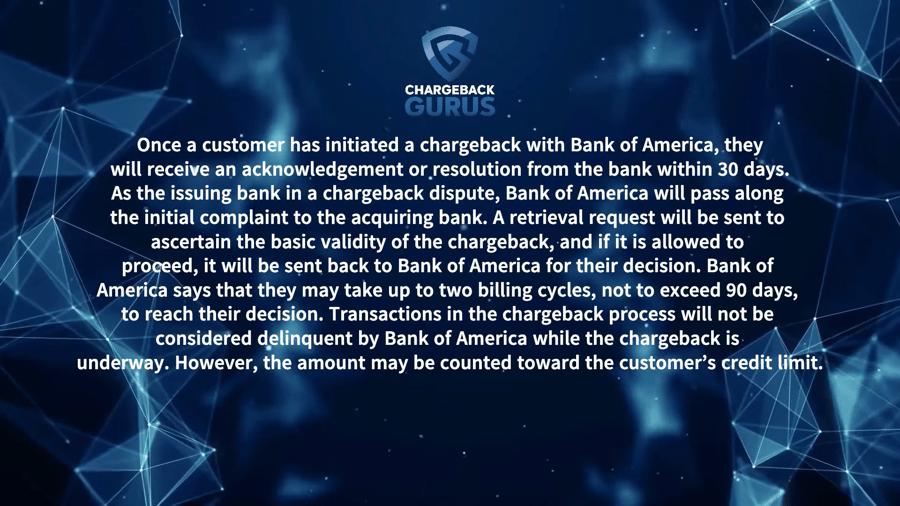 Bank of America Chargeback Process