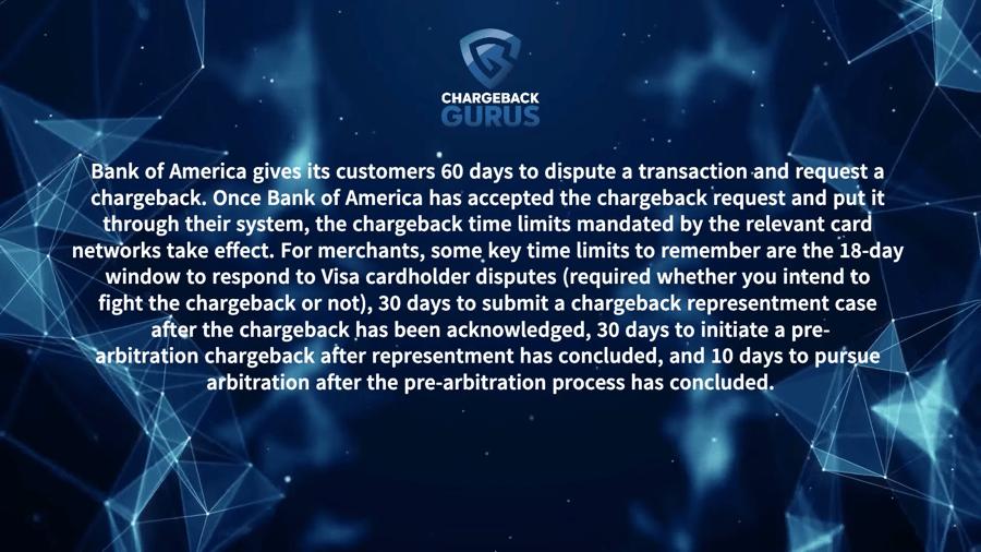 Bank of America Chargeback Timeline