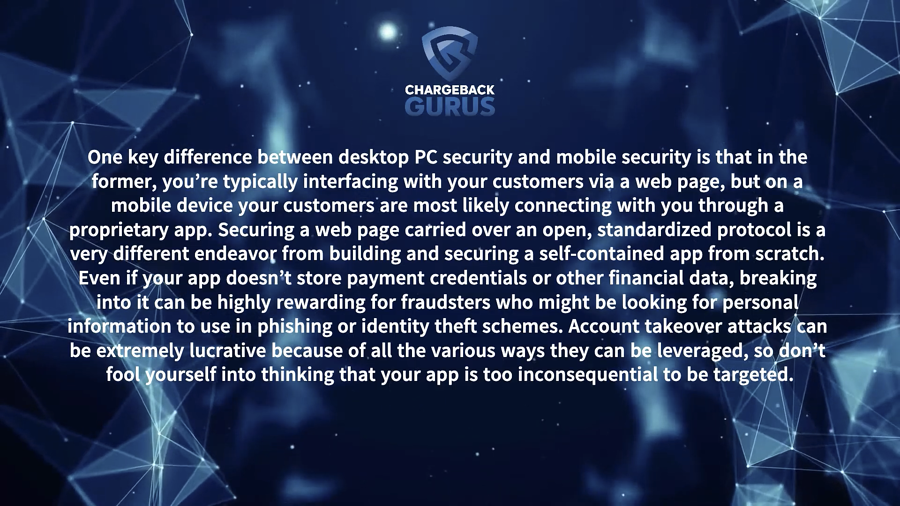 Chargeback App Data Security