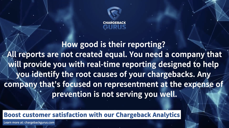 Chargeback Management Analytics