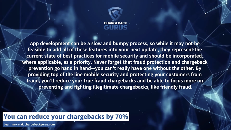 Mobile App Chargeback Protection