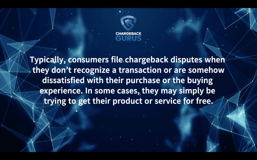 Why do people file chargebacks?