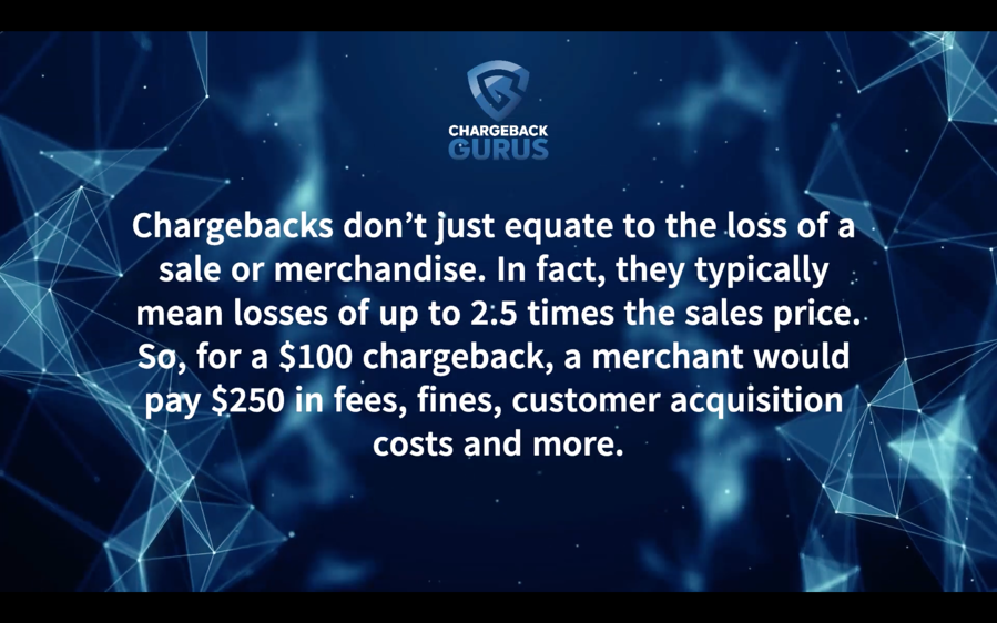 Actual cost of chargebacks