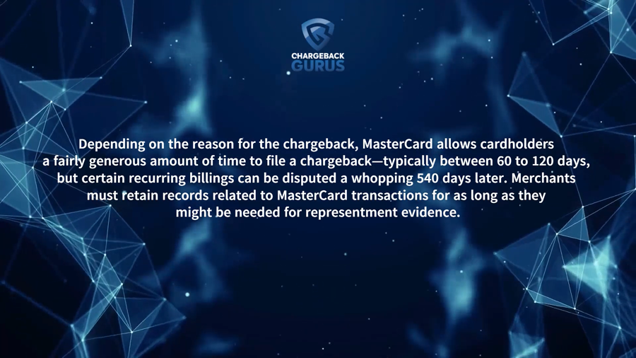 MasterCard chargeback time limits