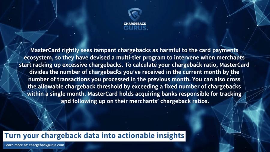 MasterCard chargeback ratio