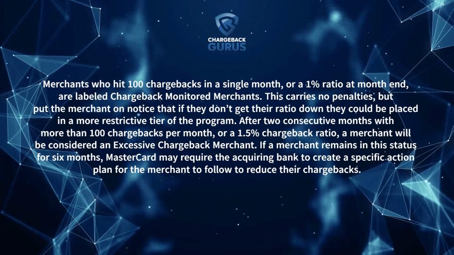 MasterCard chargeback threshold