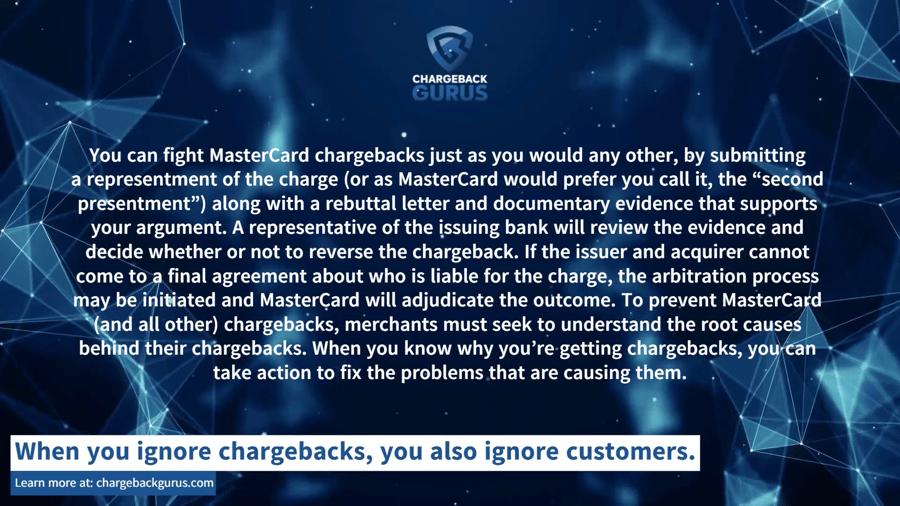 MasterCard chargeback dispute