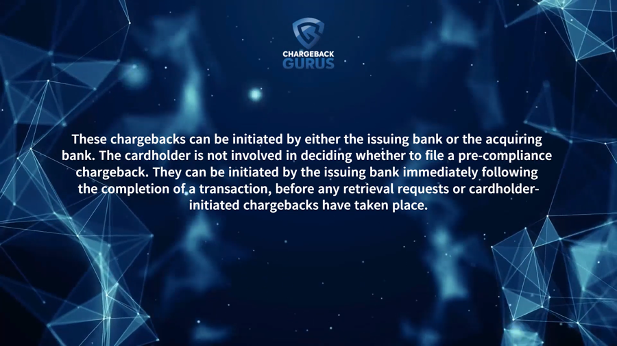 Pre-compliance chargebacks