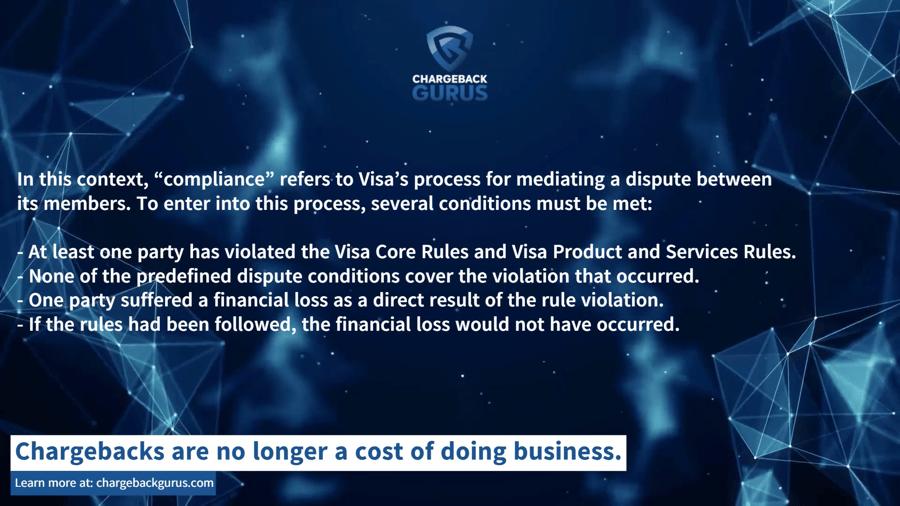 Visa pre-compliance