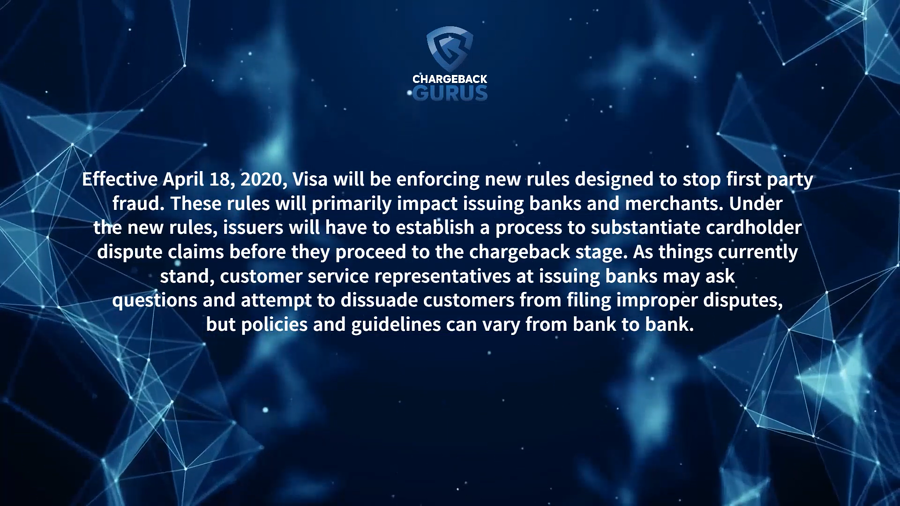 Visa first party fraud rules