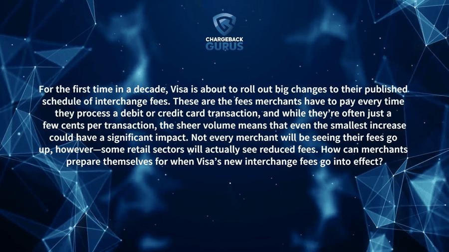 What are Visa Interchange fees?