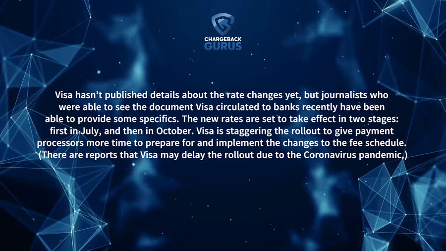 When is visa changing interchange rate fees?