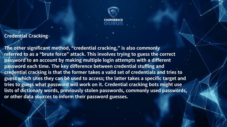 Credential Cracking Schemes