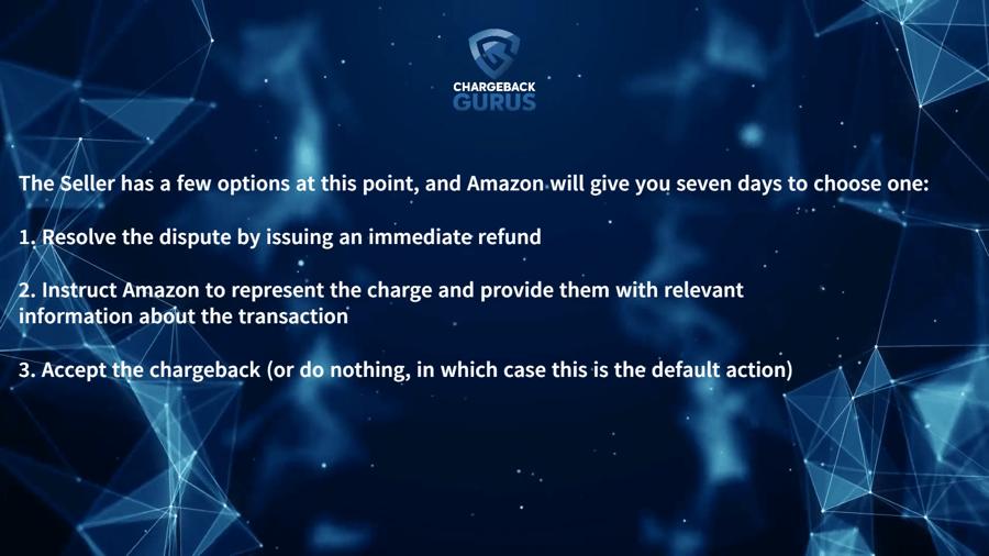 Amazon seller dispute options