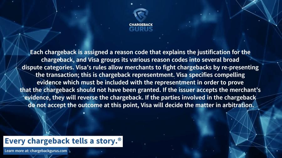 Visa chargeback compelling evidence