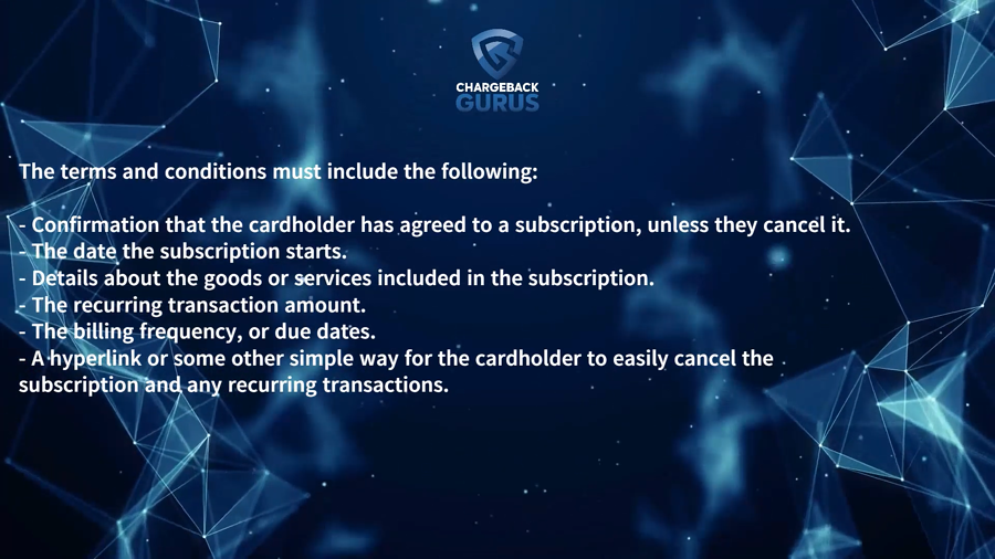 Visa subscription requirements