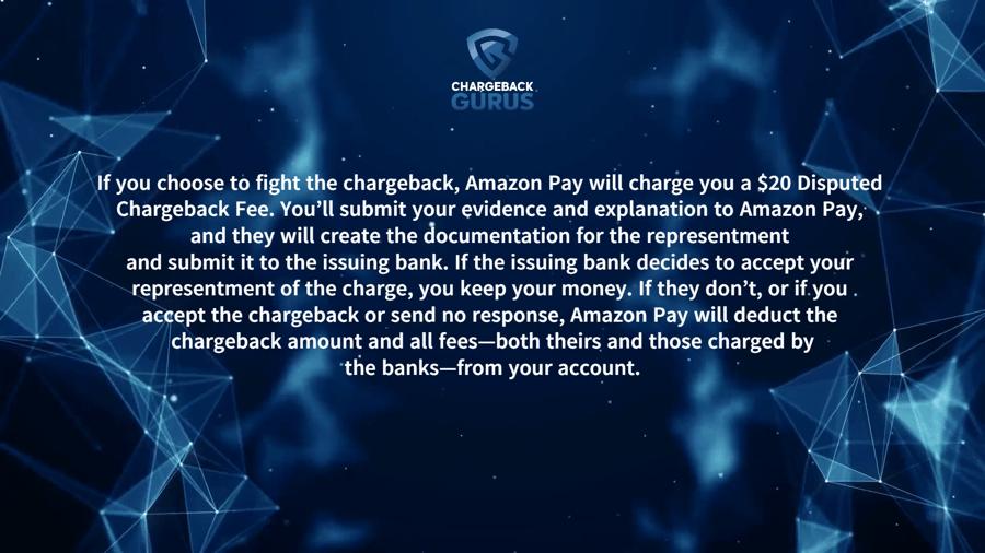 Amazon chargeback fees