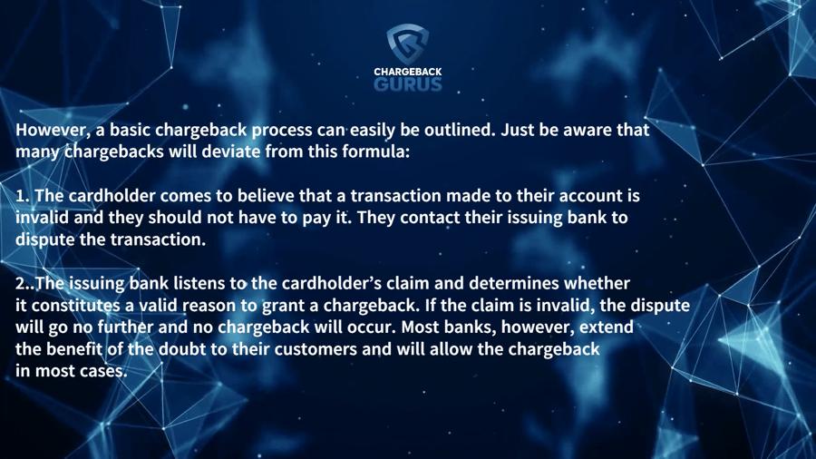 Chargeback dispute process