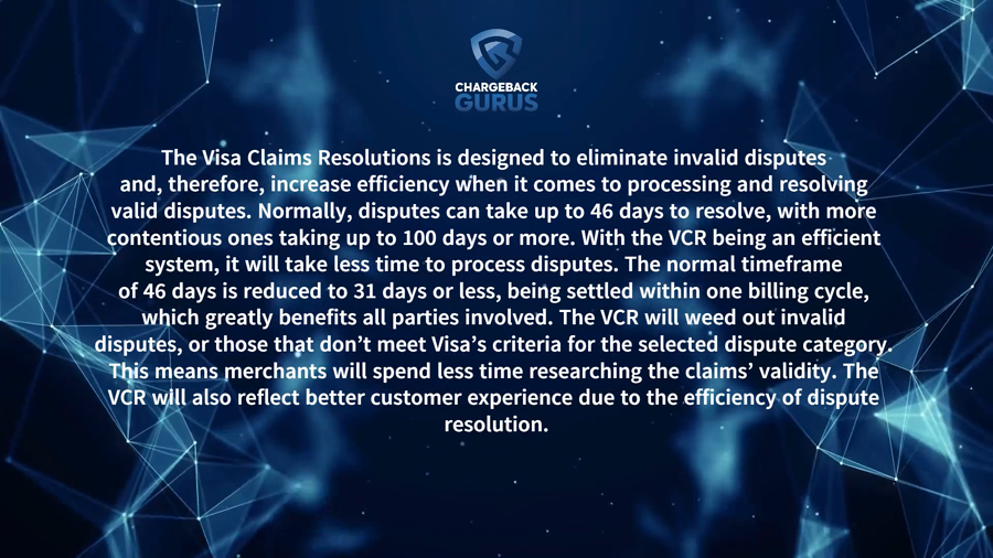 Visa Claims Resolution timeframe