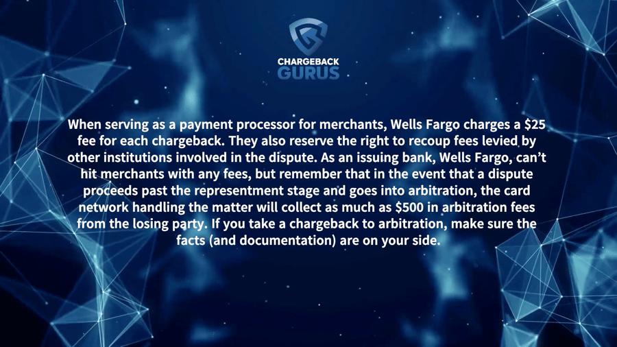 Wells Fargo Chareback Fee
