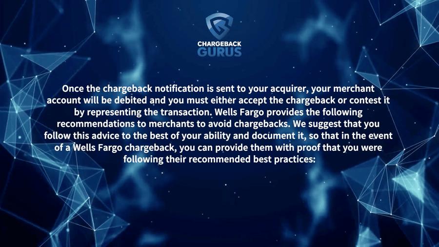 Wells Fargo Chargeback Process
