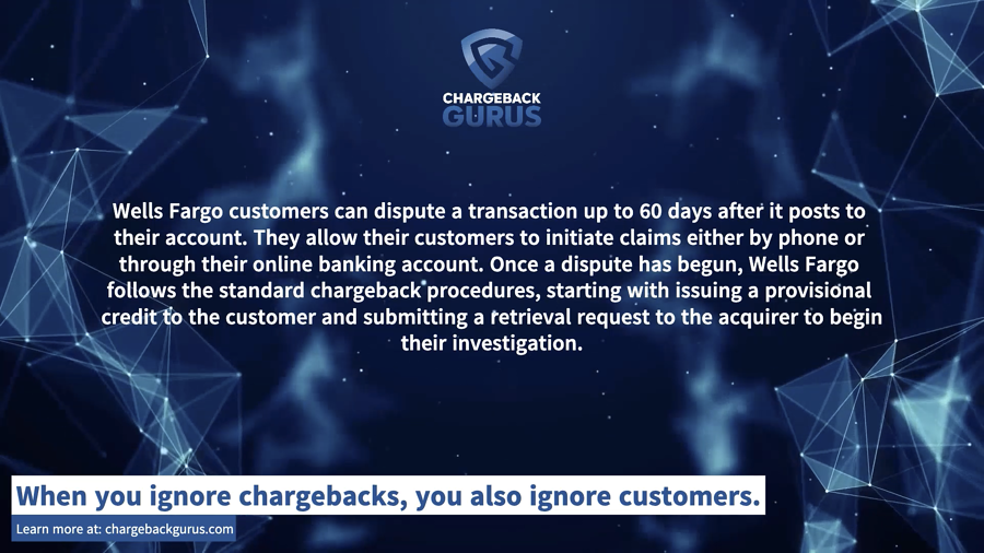 Wells Fargo Chargeback Time Limit